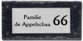 Leisteen met rvs naambord 30x15 cm