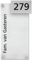 Accrylaat met RVS naambord
