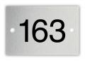 Aluminium nummerplaatje 3 x 2 cm