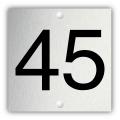 Aluminium nummerplaatje 3 x 3 cm