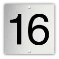 Aluminium nummerplaatje 4 x 4 cm