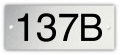 Aluminium nummerplaatje 5 x 2 cm