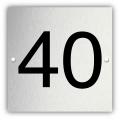 Aluminium nummerplaatje 5 x 5 cm