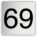 Aluminium nummerplaatje 6 x 6 cm