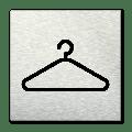 Pictogram vierkant Garderobe