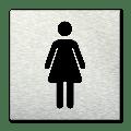 Pictogram vierkant Toilet dames