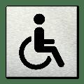 Pictogram vierkant Invaliden toilet