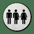Pictogram rond Toiletten gender neutraal