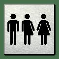 Pictogram vierkant Toiletten gender neutraal