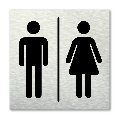 Pictogram vierkant Toiletten