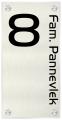 Naambord plexiglas met aluminium rvs 15 x 30 cm