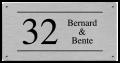RVS naambordje 20 x 10 cm met gegraveerde opdruk