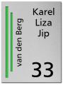RVS Naambord 2-laags groen 15 x 20 cm