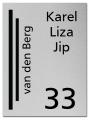 RVS gelaserd naambord