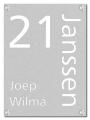 RVS lasergesneden naambord 22 x 30 cm
