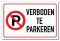 Bord verboden te parkeren