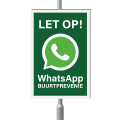 WhatsApp Buurtpreventie bord 20 x 30 cm