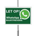 WhatsApp Buurtpreventie bord 30 x 20 cm