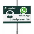 WhatsApp Buurtpreventie bord 60 x 40 cm