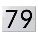 Huisnummers Aluminium geperst