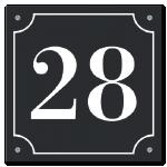 Huisnummers Emaille look