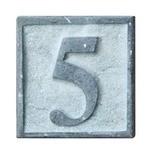 Huisnummers Natuursteen