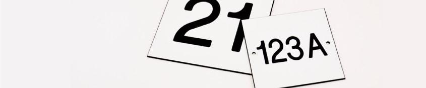 Huisnummers Basic